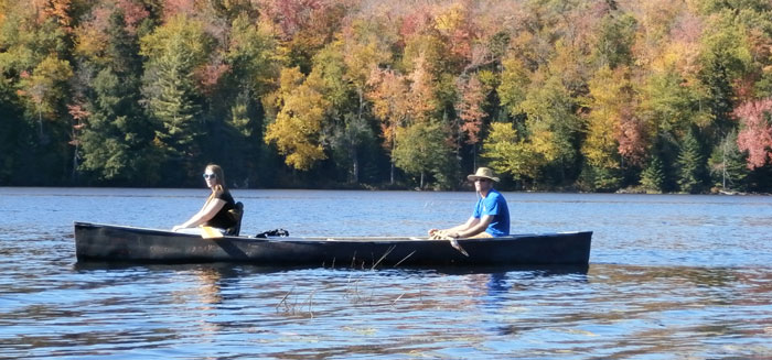 Andy and Caitlin in canoe