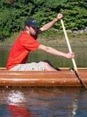 Canoe paddle technique catch phase